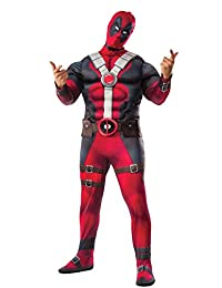 Rubies Costume Rubie's Men's Deadpool Plus Deluxe Muscle Chest Costume and Mask
