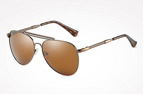 Gafas Hombre sol de sol plata azul de masculina Sunglasses TL gafas polarizados Mujer con Gafas ACCESORIOS brown para alta calidad Guía UV400 wtUHREZqH