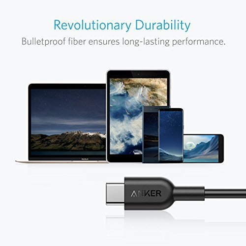 Anker PowerLine II USB-C to C 2.0 Cable (3ft) Probably The World's Most Durable Cable, USB-IF Certified for Samsung Galaxy Note 8 S8 S8+ S9, Google Pixel, Nexus 6P, Huawei Matebook, MacBook and More