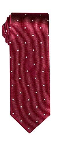 - SPREZZA Men's Maroon Polka Dot Silk Tie Classic 2.75 inch Slim Necktie