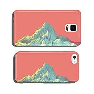 Geometric 3d Mountain Scene cell phone cover case Samsung S6