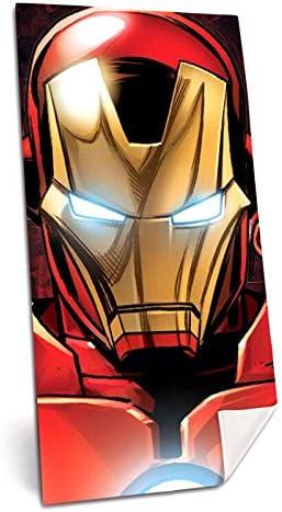 kids licensing Telo Mare Iron Man Asciugamani in Spugna Avengers MV15736