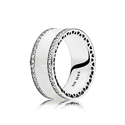 Hearts of PANDORA Ring Band, Silver & Enamel