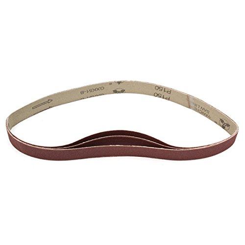 Letbo New 3pcs 760x25mm Alumina Sanding Belts 150 Grit Sandpaper Self Sharpening Oxide Abrasive Strips