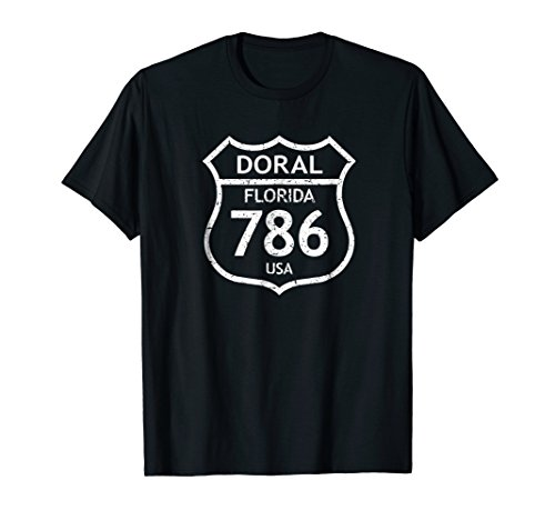 Florida Area Code 786 Doral, FL Home State T Shirt (Mens Doral)