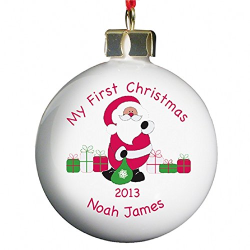 Personalised Bauble  Babys First Christmas Amazoncouk