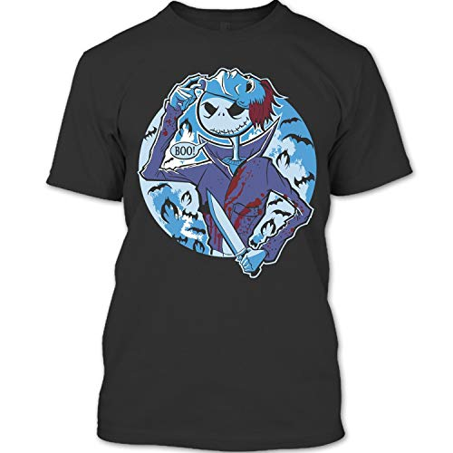 Nightmare Halloween T Shirt, Coolest Jack Skellington T Shirt Unisex (-X,Forest) -
