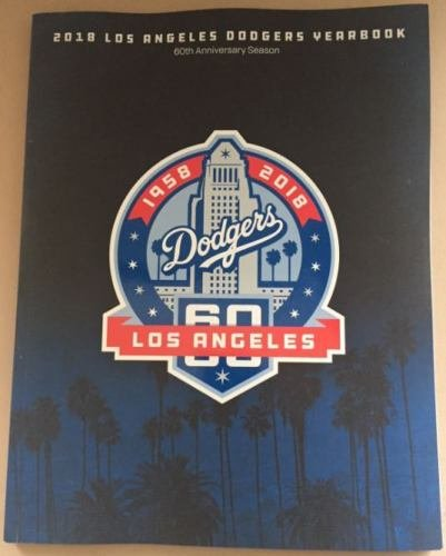 Baseball 2018 Dodgers Yearbook Program World Series 184 Pages Official Team YEARBOOKPRE-Order Item - Shipping Begins October 30TH