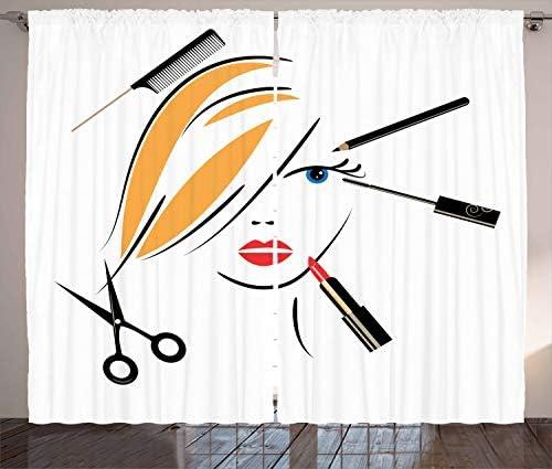 Ambesonne Hair Salon Curtains