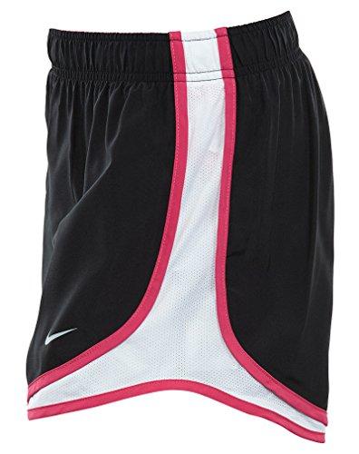 Damen Nike Dry Tempo Running Short Schwarz / Weiß / Vivid Pink