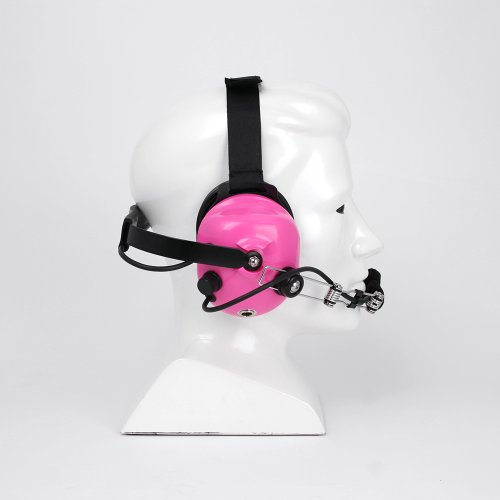 Rugged Radios H42-PINK Behind The Head Two-Way Radio Headset with Dynamic Noise Cancelling Microphone, Push to Talk, and 3.5mm Input Jack for Music & MP3 Players by Rugged Radios (Image #6)
