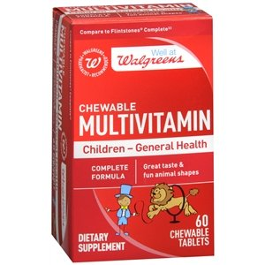 Walgreens Childrens Multivitamin Chewable Animal Shapes, Tablets, Fruit, ...