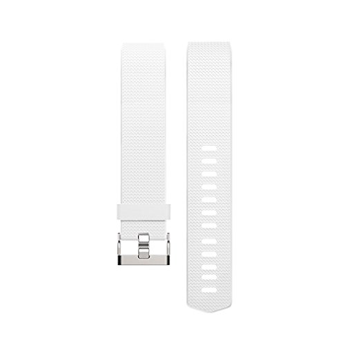 Vancle Fitbit Charge 2 Bands, Classic Edition Adjustable Comfortable Replacement Strap for Fit bit Charge 2 (No Tracker) (1PC (White), Large)
