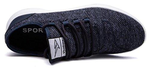 Aller Tour Chaussures De Course De Mode Mode Respirant Sneakers Maille Semelle Souple Occasionnel Athlétique Léger Bleu
