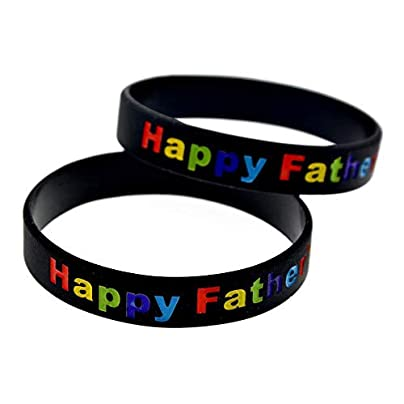 DuDuDu Silicone Bracelets with Sayings Happy Father Day Rubber Wristbands for Men Encouragement Perfect Gift for Your Dad Set Piecesbirthday Gift Estimated Price £25.99 -