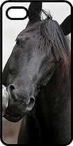 Black & White Stallion Black Plastic Decorative iPhone 6 Plus Case