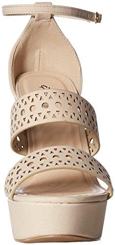 Espadrille Nubuck Sandal Qupid Women's Beige Wedge Polyurethane Tqxt5wntZC