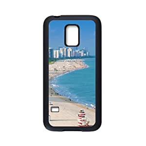 Samsung Galaxy S5 Mini Case,Aerial View Of Miami Beach High Definition Wonderful Design Cover With Hign Quality Rubber Plastic Protection Case