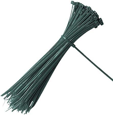 100 piezas 200 x 3 mm abrazaderas de cable de jardín con cierre automático planta verde lazos de nylon ajustables lazos de cremallera multiusos: Amazon.es: Jardín