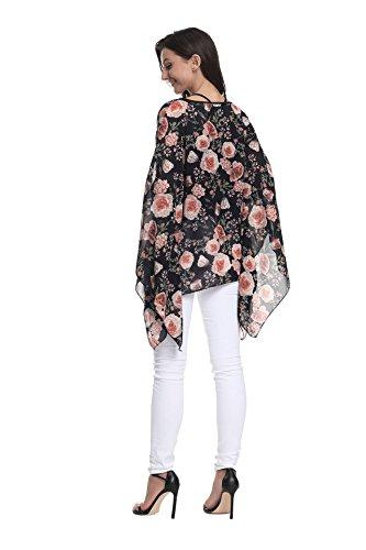 Femmes en Boho Style OKSakady Les Porter Plus Shirt T dcontract Plage Soie Couleurs lache pour Mousseline Tops 6 de 10024 Size Chemise Style 0qY10Zw