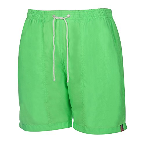 Weekender Men's Neon Swim Suit Trunk Lime Twist Large