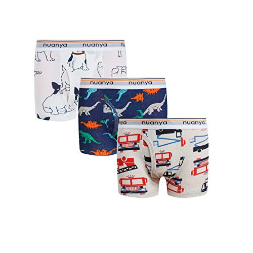 Boys Boxer Briefs Shorts, Cotton Dinosaur Shark Baby Toddler Underwear for Kids Boy 3 Pack 2/3t