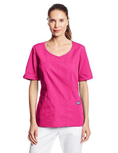 Cherokee Women's Workwear Scrubs V-Neck Top, Shocking Pink, XX-Large