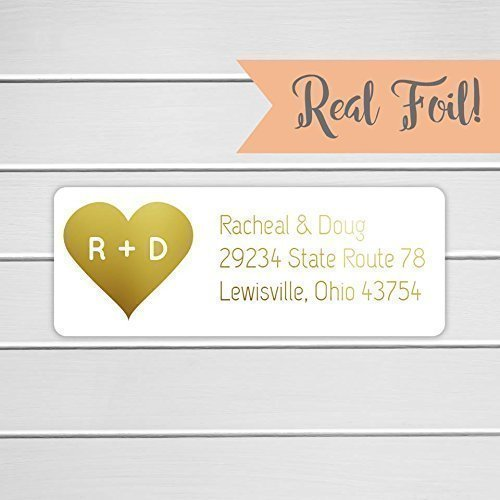 amazon com 60ct wedding invitation return address labels gold