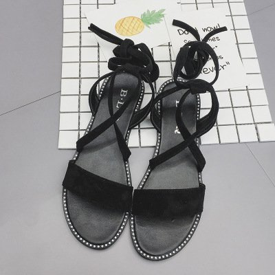 Dony Foot ring strap, sandals, ankle strap, summer lap, flat bottomed anti slip belt, ladies' shoes. Thirty-six