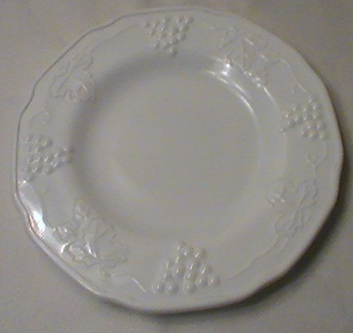 Indiana Glass White Milk Glass Grape Harvest Bread and Butter Plate Replacement - One Plate Indiana Glass Glass Plates