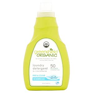 GreenShield Organic USDA Certified Organic Laundry Detergent, Free and Clear, 50 Ounce