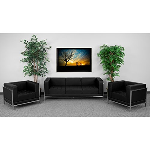 Flash Furniture HERCULES Imagination Series Black Leather Sofa & Chair Set from Flash Furniture