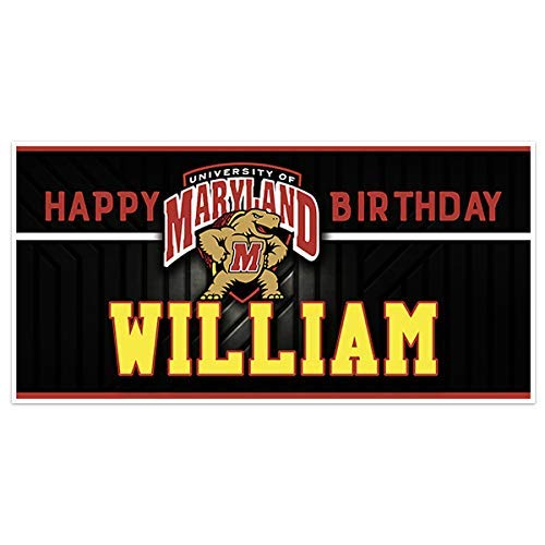 Maryland College Football Birthday Banner Party Decoration Backdrop
