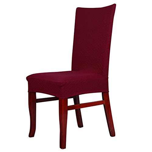 HP95(TM) Dining Chair Covers Spandex Strech Chair Protector Slipcover Decor for Dining Room (Red)