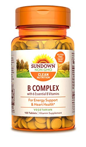 Sundown Naturals Vitamin B Complex 100% RDV, 100 Tablets (Pack of 3)(Packaging May Vary)
