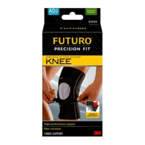 Image of 3M Health Care 01039ENT Knee Support, Adjustable, Black (Pack of 12) Knee Braces