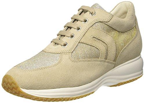 Geox D5462C000AK - Zapatillas altas para mujer Beige (LT TAUPE/PLATINUMCH62U)