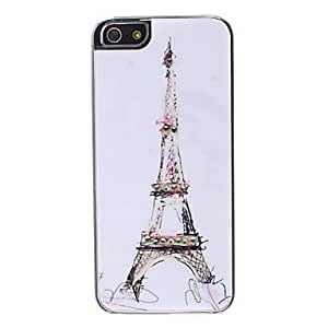 xiao Eiffel Tower Pattern with Rhinestone Design Hard Case for iPhone 5/5S