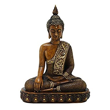 Woodland Imports 15H in. Polystone Buddha A Religious Decor