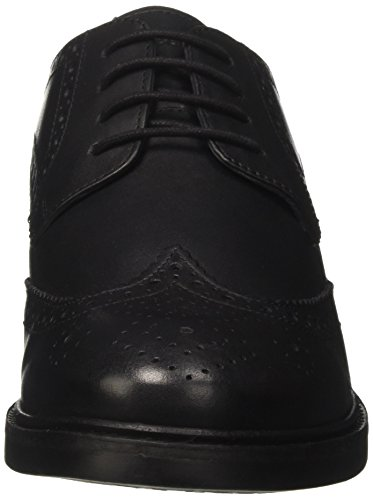 Lumberjack Brogue Black Uomo Nero Stringate Basse Scarpe William q6wgqF7