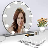 Vanity Lights Kit, 3 Colors and 5 Level Brightness Adjustable Hollywood Style Mirror Lights with 10 LED Light Bulbs, for Vanity Table Set and Bathroom Mirror