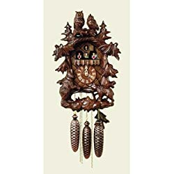 Original Eight Day Movement Cuckoo Clock with Musical Dancers 18 Inch