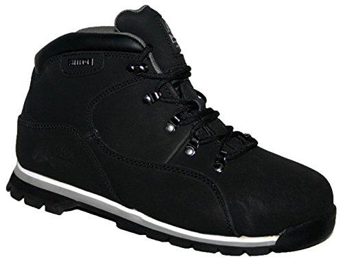 Lacets Noir Gr86 Embout Acier Homme nbsp;léger blanc De Chaussures Footwear Sensation Sécurité À En Cuir Dessus xvHqx6nR0