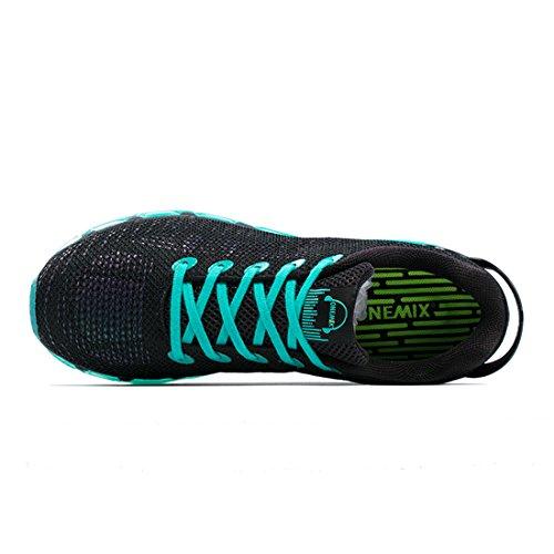 Onemix Zapatos para Correr en Asfalto Aire Libre y Deportes Zapatillas de Running para Hombre Negro / Verde