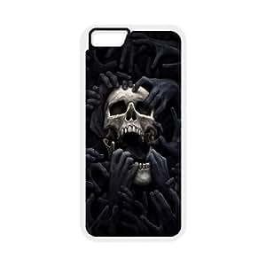 Case Cover For Apple Iphone 6 4.7 Inch SKULL Phone Back Case Art Print Design Hard Shell Protection FG067433