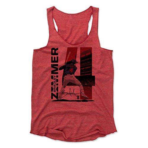 500 LEVEL Bradley Zimmer Women's Tank Top Large Red - Cleveland Baseball Women's Apparel - Bradley Zimmer Stadium R