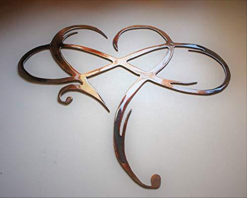 (Infinity Heart Metal Wall Art -Always & Forever Infinity)