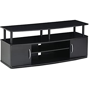 FURINNO Furinno JAYA Large Entertainment Center Hold up to 50-IN TV, 15113BKW