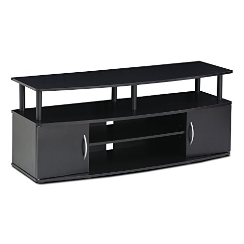 Furinno JAYA Large Entertainment Center Hold up to 50-IN TV, 15113BKW