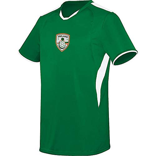 Augusta Soccer Jerseys - Augusta Sports Youth Medium Ireland Na buachaillí i nglas (Blank Back) International Soccer Jersey